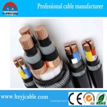 Electrodomésticos Cable de alimentación blindado blindado de PVC negro