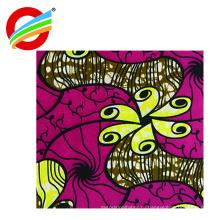 оптовая 100% полиэстер африканский Анкара супер воск печать ткань
