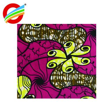vente en gros 100% polyester africain ankara super wax imprimé tissu