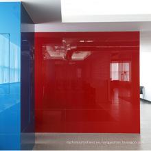 Oficina de panel de pared de vidrio templado