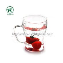 Double Wall Tea Cup par BV, SGS, (L13.5cm, W: 10cm H: 17.8cm, 330ml)