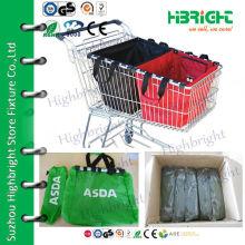 Foldable light weight supemarket cart bag