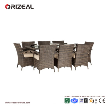 Outdoor Rattan 8-Seater Square Dining Set OZ-OR061