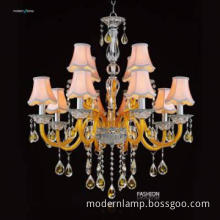 chandeliers made in italy(crystal vases and Plants disc)