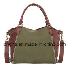 Contrast Construction Lady Handbag (LY0143)