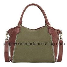 Contrast Construction Lady Handbag (LY0143)