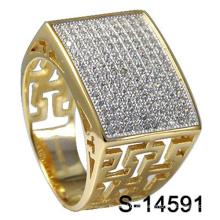 Anillo de plata de ley 925 de alta calidad