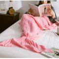 China Softtextile Knitted Fleece Mermaid Tail Blanket with 195X95cm