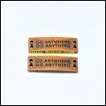 Vestuário acessórios placa de Metal com logotipo personalizado botão