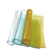 Folha de cortina de PVC suave transparente colorido / rolo