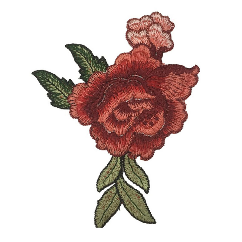 Peony Flower Sew On Embroidery Emblem