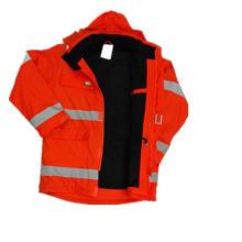 Fleece Hooded PU imperméable/réflexion/sécurité vêtements pour adulte