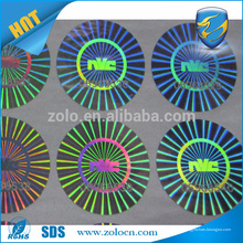 China anti-falso garantia holograma adesivo impressão / adesivo holográfico
