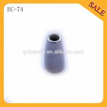 EC74 decorative metal draw cord stopper,round metal end lock