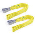 3 Ton 3M Or OEM Length 90MM Width Polyester 3T Webbing Lifting Sling Raw Material Belt Yellow Color Safety Factor 8:1 7:1 6:1