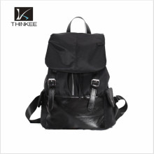 Черный женщины рюкзак мешок для девочек