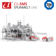 CL-SMS PP Spunbond Meltblown Composite Non Woven Fabric Making Production Line for Medical Products