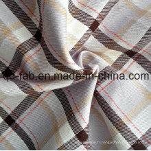 Tissu à carreaux teintés de fil (QF13-0390)