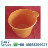 Orange Water Flexible Plastic Bucket Rubbish Bin With Oem And Odm -bn6076