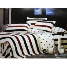 Cotton reactive geometrical print bedding duvet cover set