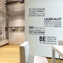 Nós somos a família citar carta em inglês removível Mural Mural adesivo de parede para casa