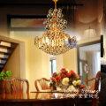 lámpara colgante de lujo del color oro de la venta caliente, lámpara colgante de la luz del diseño moderno, lámpara linda de la iluminación del pequeño tamaño