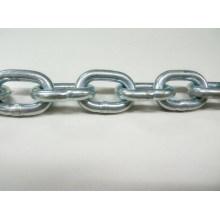 Corrente de ligação soldada de metal galvanizado padrão