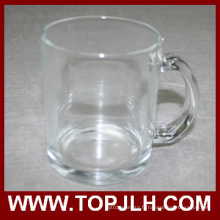 Sublimation blanc tasse de 11oz verre Transparent