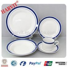 20pcs mão pintada cor borda borda dinnerware conjunto