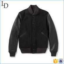 2017 novo estilo de lã de couro varisty letterman jaqueta de beisebol à prova de vento