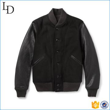 2017 nouveau style laine en cuir varisty letterman veste coupe-vent veste de baseball