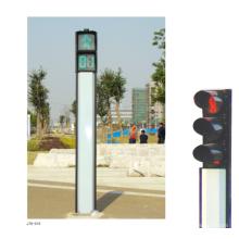 iluminación al aire libre del tráfico de la Bola Llena al aire libre del metal 400m m, semáforo llevado solar