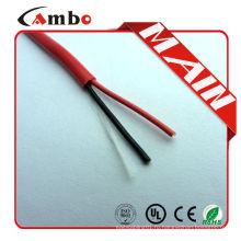 Сделано в Китае высокое качество 1000 футов красный FPL FPLR cctv 2 ядра Bare медный кабель пожаротушения
