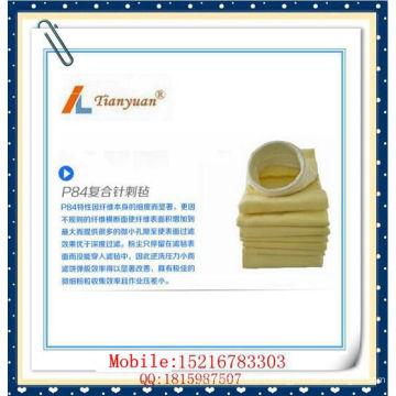 Bolsa de filtro P84 Bolsa de filtración de polvo de alta resistencia a la temperatura