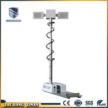 Night scan folding vehicle mounted light tower