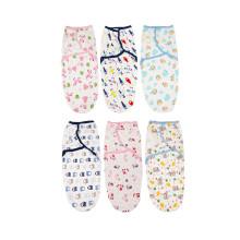 100%хлопок ребенка пеленать одеяло новорожденных пеленать обертывание регулируемая