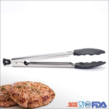Strong mirror light Nylon stainless steel food tong