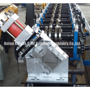 Rapidamente Changable C Purlin Bracket Roll formando máquina