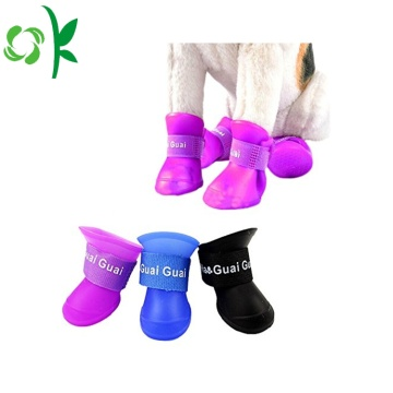 Waterproof Pet Accessories Silicone Dog Rain Shoes