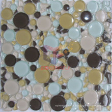 Round and Irregular Shape Mixd Tempering Crystal Mosaic (CFC313)