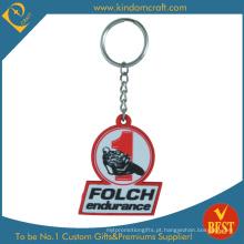 Corrente chave do PVC do logotipo personalizado da alta qualidade para a publicidade da atividade no preço de fábrica
