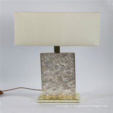 Canosa ECO-friendly lampes de table blanches de nacre