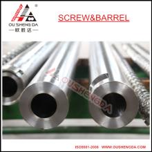 cilindro de parafuso de fundição centrífuga / parafuso bimetálico e cilindro / cilindro de parafuso