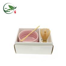 Японский матча зеленый чай Подарочный набор (белый)