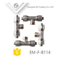 EM-F-B114 AL-PEX-AL 3-way brass tee pipe fitting