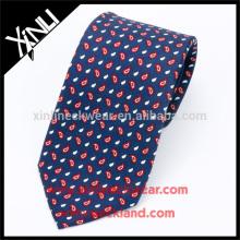100% Handmade Perfect Knot Neck Tie Silk Printed Seven Fold Tie