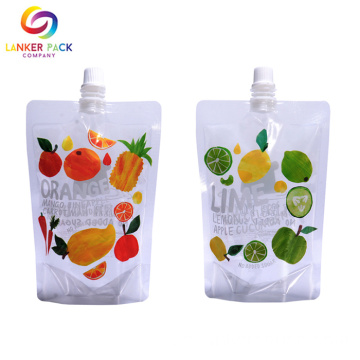 BRC Custom Ställ upp Spout Juice Packaging Bag