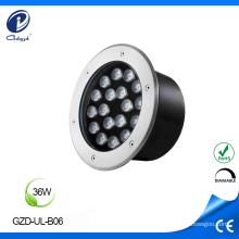 Bajo consumo de energía 36W IP65 en iluminación de suelo.