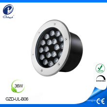 Baixo consumo de energia 36W IP65 na iluminação do solo