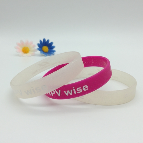 screen printed silicone wristband